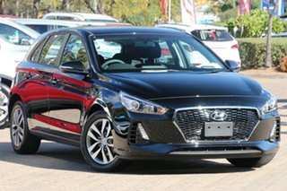 2017 Hyundai i30 PD MY18 Active D-CT Phantom Black 7 Speed Sports Automatic Dual Clutch Hatchback.