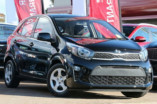 New Kia Picanto JA MY19 S, 2019 Kia Picanto JA MY19 S Aurora Black 4 Speed Automatic Hatchback