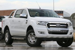 2018 Ford Ranger PX MkII MY18 XLT Double Cab Frozen White 6 Speed Manual Utility.