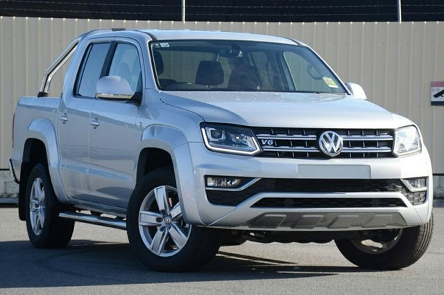 New Volkswagen Amarok 2H MY19 TDI550 4MOTION Perm Highline, 2019 Volkswagen Amarok 2H MY19 TDI550 4MOTION Perm Highline Reflex Silver 8 Speed Automatic Utility