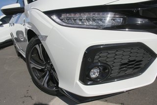 2019 Honda Civic 10th Gen MY18 RS Platinum White 1 Speed Constant Variable Hatchback.