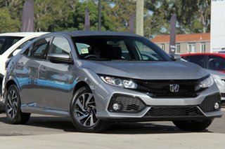 2019 Honda Civic 10th Gen MY19 VTi-S Lunar Silver 1 Speed Constant Variable Hatchback.