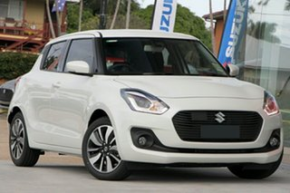 2017 Suzuki Swift AZ GLX Turbo Pure White 6 Speed Sports Automatic Hatchback.