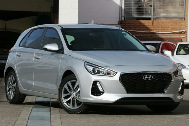 New Hyundai i30 PD2 MY18 Active D-CT, 2018 Hyundai i30 PD2 MY18 Active D-CT Platinum Silver Metallic 7 Speed Sports Automatic Dual Clutch