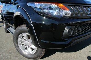 2018 Mitsubishi Triton MQ MY18 GLX+ Double Cab Pitch Black 5 Speed Sports Automatic Utility.