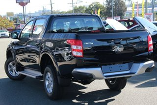 2018 Mitsubishi Triton MQ MY18 GLX+ Double Cab Pitch Black 5 Speed Sports Automatic Utility.