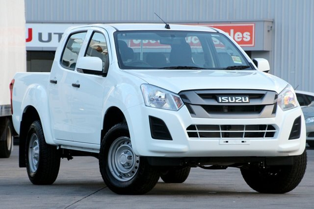 New Isuzu D-MAX MY19 SX Crew Cab 4x2 High Ride, 2019 Isuzu D-MAX MY19 SX Crew Cab 4x2 High Ride Splash White 6 Speed Sports Automatic Utility