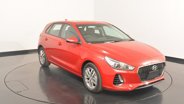 New Hyundai i30 PD MY18 Active, 2017 Hyundai i30 PD MY18 Active Fiery Red 6 Speed Sports Automatic Hatchback