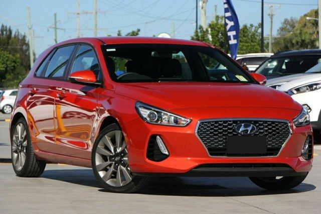 New Hyundai i30 PD MY18 SR D-CT, 2017 Hyundai i30 PD MY18 SR D-CT Phoenix Orange 7 Speed Sports Automatic Dual Clutch Hatchback