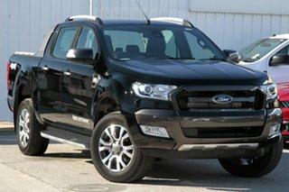 2018 Ford Ranger PX MkII MY18 Wildtrak Double Cab Shadow Black 6 Speed Sports Automatic Utility.