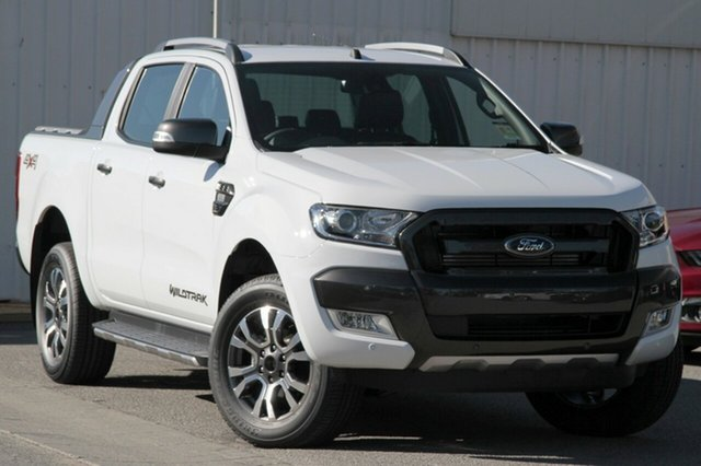 New Ford Ranger PX MkII MY18 Wildtrak Double Cab, 2017 Ford Ranger PX MkII MY18 Wildtrak Double Cab Frozen White 6 Speed Sports Automatic Utility