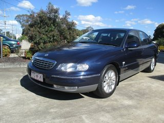 2001 Holden Statesman WH Blue Metallic Automatic Sedan.