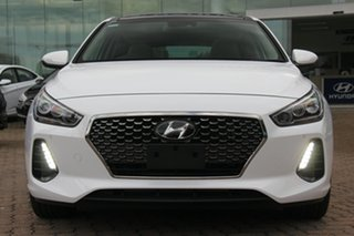2017 Hyundai i30 PD MY18 Premium D-CT Polar White 7 Speed Sports Automatic Dual Clutch Hatchback