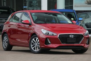 2018 Hyundai i30 Active Fiery Red 7 Speed Automatic Hatchback.