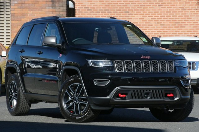New Jeep Grand Cherokee WK MY18 Trailhawk, 2018 Jeep Grand Cherokee WK MY18 Trailhawk Diamond Black Crystal 8 Speed Sports Automatic Wagon