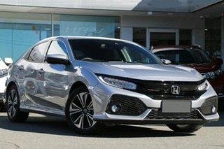 2019 Honda Civic 10th Gen MY18 VTi-LX Lunar Silver 1 Speed Constant Variable Hatchback.