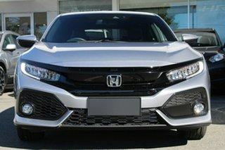 2019 Honda Civic 10th Gen MY18 VTi-LX Lunar Silver 1 Speed Constant Variable Hatchback