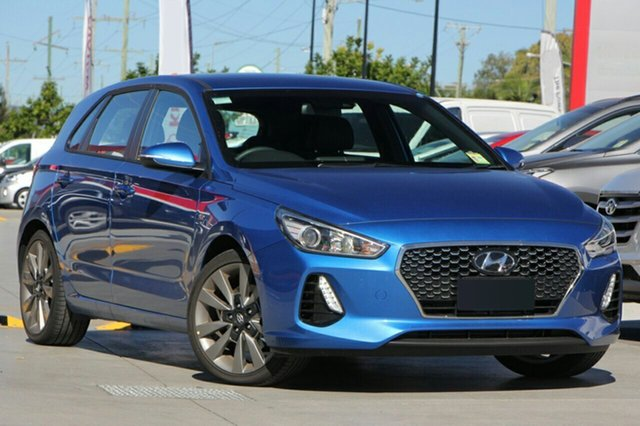 New Hyundai i30 PD MY18 SR D-CT, 2017 Hyundai i30 PD MY18 SR D-CT Marina Blue 7 Speed Sports Automatic Dual Clutch Hatchback