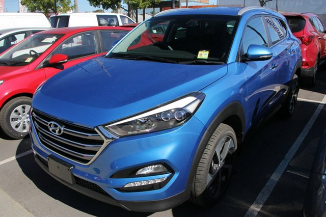 New Hyundai Tucson TL2 MY18 Elite D-CT AWD, 2017 Hyundai Tucson TL2 MY18 Elite D-CT AWD Ara Blue 7 Speed Sports Automatic Dual Clutch Wagon