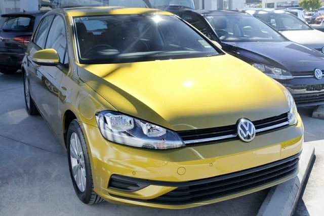 New Volkswagen Golf 7.5 MY18 110TSI DSG Trendline, 2017 Volkswagen Golf 7.5 MY18 110TSI DSG Trendline Tumeric Yellow 7 Speed