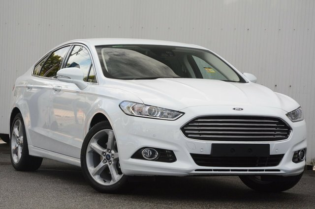 New Ford Mondeo MD 2017.50MY Trend SelectShift, 2017 Ford Mondeo MD 2017.50MY Trend SelectShift Frozen White 6 Speed Sports Automatic Hatchback