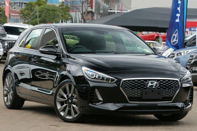 New Hyundai i30 PD MY18 SR D-CT Premium Albion, 2017 Hyundai i30 PD MY18 SR D-CT Premium Phantom Black 7 Speed Sports Automatic Dual Clutch