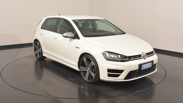 Used Volkswagen Golf VII MY17 R DSG 4MOTION, 2017 Volkswagen Golf VII MY17 R DSG 4MOTION Pure White 6 Speed Sports Automatic Dual Clutch