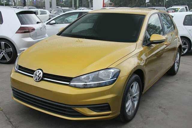 New Volkswagen Golf 7.5 MY18 110TSI, 2017 Volkswagen Golf 7.5 MY18 110TSI Tumeric Yellow 6 Speed Manual Hatchback