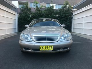 2000 Mercedes-Benz S320 W220 Gold 5 Speed Automatic Sedan.