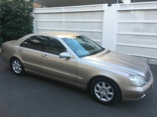 2000 Mercedes-Benz S320 W220 Gold 5 Speed Automatic Sedan