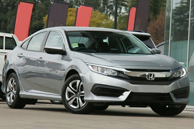 New Honda Civic 10th Gen MY18 VTi, 2018 Honda Civic 10th Gen MY18 VTi Lunar Silver 1 Speed Constant Variable Sedan