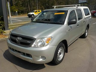 2007 Toyota Hilux GGN15R 07 Upgrade SR Silver 5 Speed Automatic Dual Cab Pick-up