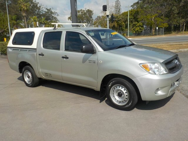 Used Toyota Hilux GGN15R 07 Upgrade SR, 2007 Toyota Hilux GGN15R 07 Upgrade SR Silver 5 Speed Automatic Dual Cab Pick-up