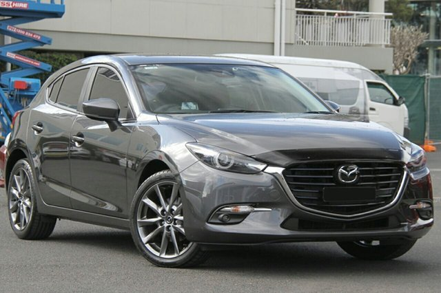 New Mazda 3 BN5438 SP25 SKYACTIV-Drive Astina, 2018 Mazda 3 BN5438 SP25 SKYACTIV-Drive Astina Machine Grey 6 Speed Sports Automatic Hatchback