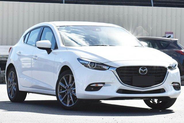 New Mazda 3 BN5438 SP25 SKYACTIV-Drive Astina, 2018 Mazda 3 BN5438 SP25 SKYACTIV-Drive Astina Snowflake White 6 Speed Sports Automatic Hatchback