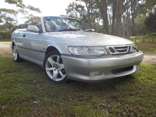 2003 Saab 9-3 MY2003 Turbo Silver 4 Speed Automatic Convertible.