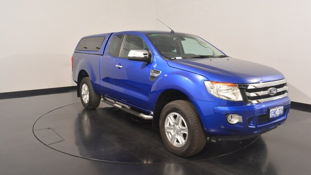Used Ford Ranger PX XLT Super Cab, 2014 Ford Ranger PX XLT Super Cab Blue 6 Speed Sports Automatic Utility