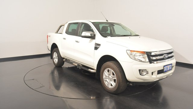 Used Ford Ranger PX XLT Double Cab, 2014 Ford Ranger PX XLT Double Cab White 6 Speed Manual Utility