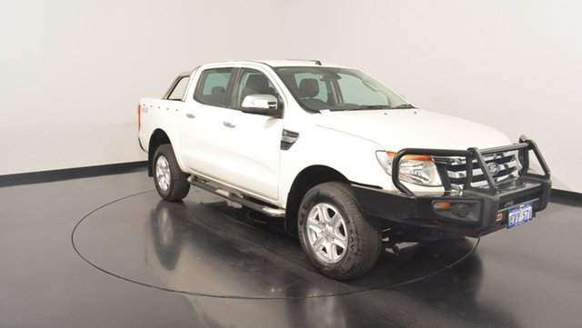 Used Ford Ranger PX XLT Double Cab, 2015 Ford Ranger PX XLT Double Cab Cool White 6 Speed Sports Automatic Utility