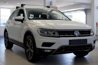 2017 Volkswagen Tiguan 5N MY18 110TDI DSG 4MOTION Adventure Pure White 7 Speed.