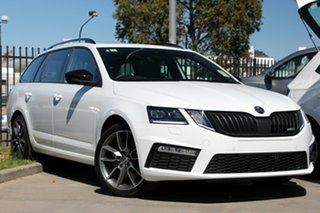 2020 Skoda Octavia NE MY20.5 RS DSG 245 Moon White 7 Speed Sports Automatic Dual Clutch Wagon.