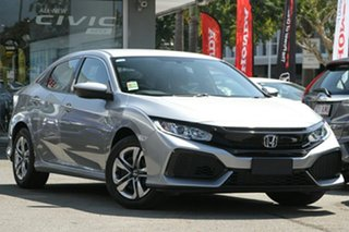 2019 Honda Civic 10th Gen MY19 VTi Lunar Silver 1 Speed Constant Variable Hatchback.