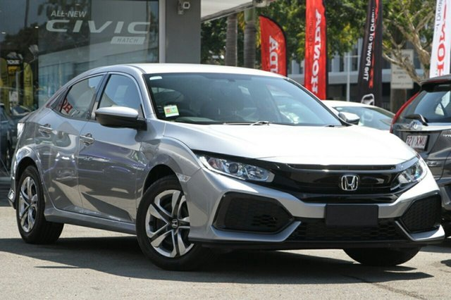 New Honda Civic 10th Gen MY18 VTi, 2018 Honda Civic 10th Gen MY18 VTi Lunar Silver 1 Speed Constant Variable Hatchback