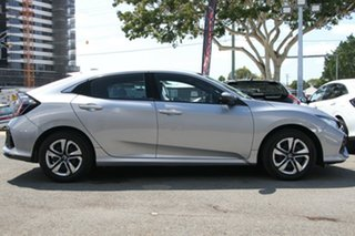2019 Honda Civic 10th Gen MY18 VTi Lunar Silver 1 Speed Constant Variable Hatchback.