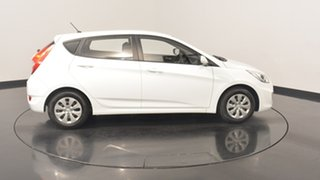 2016 Hyundai Accent RB4 MY16 Active Crystal White 6 Speed Manual Hatchback