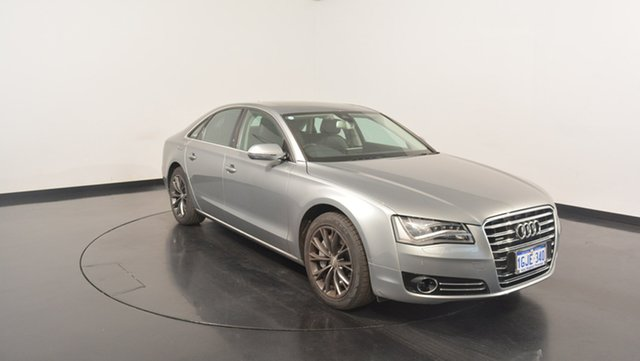 Used Audi A8 4H Tiptronic Quattro, 2011 Audi A8 4H Tiptronic Quattro Silver 8 Speed Sports Automatic Sedan