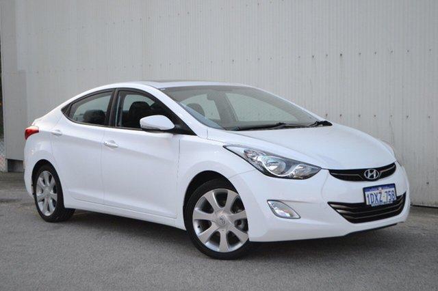 Used Hyundai Elantra MD2 Premium, 2012 Hyundai Elantra MD2 Premium White 6 Speed Sports Automatic Sedan