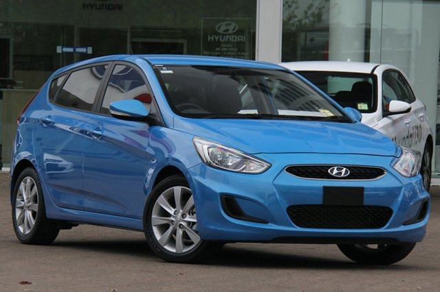 New Hyundai Accent RB6 MY18 Sport, 2018 Hyundai Accent RB6 MY18 Sport Blue Lagoon 6 Speed Automatic Hatchback