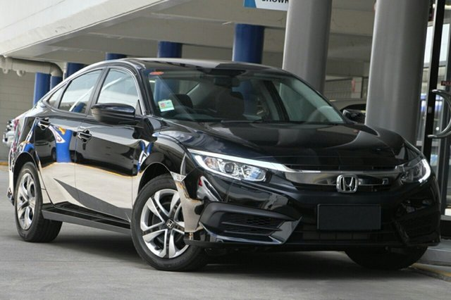 New Honda Civic 10th Gen MY19 VTi, 2019 Honda Civic 10th Gen MY19 VTi Crystal Black 1 Speed Constant Variable Hatchback