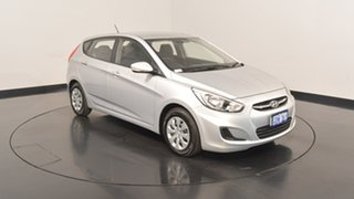 2016 Hyundai Accent RB4 MY16 Active Sleek Silver 6 Speed Constant Variable Hatchback